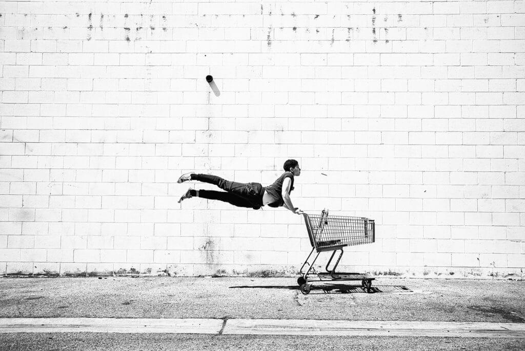 josh rose shopping cart dancer tainted magazine article